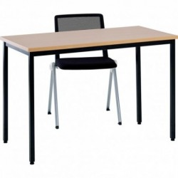 TABLE POLY HÊTRE 160×80...